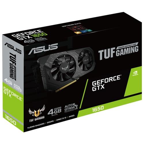 Видеокарта ASUS TUF GeForce GTX 1650 1485MHz PCI-E 3.0 4096MB 8002MHz 128 bit DVI DisplayPort HDMI HDCP GAMING