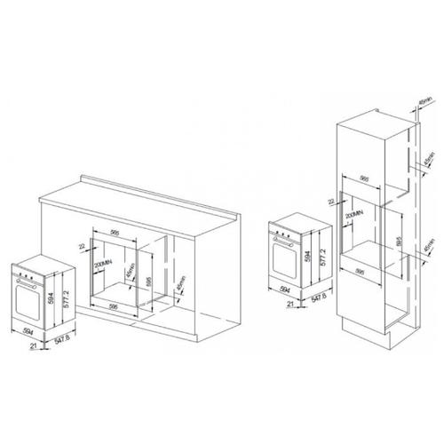 Электрический духовой шкаф GRAUDE BK 60.3 EL