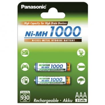 Аккумулятор Ni-Mh 1000 мА·ч Panasonic Rechargeable Accu AAA