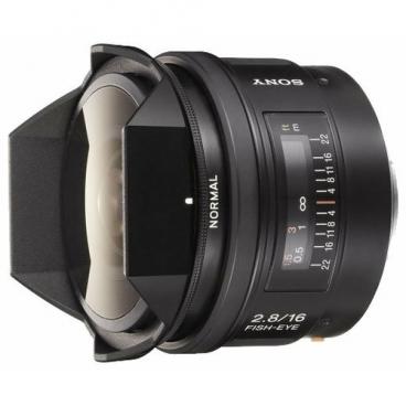 "Объектив Sony 16mm f/2.8 Fisheye (SAL-16F28)"""