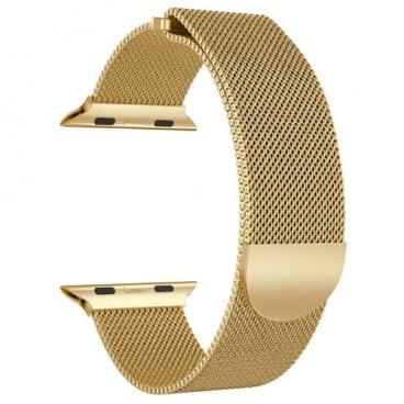 GSMIN Ремешок металлический Milanese Loop для Apple Watch 42/44mm