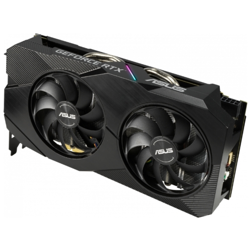 Видеокарта ASUS DUAL GeForce RTX 2060 1365MHz PCI-E 3.0 6144MB 14000MHz 192 bit DVI DisplayPort 2xHDMI HDCP EVO OC