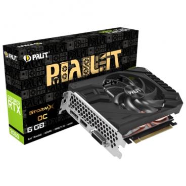Видеокарта Palit GeForce RTX 2060 1365MHz PCI-E 3.0 6144MB 14000MHz 192 bit DVI DisplayPort HDMI HDCP StormX OC