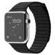 Karmaso Ремешок для Apple Watch 42 мм кожаный черный