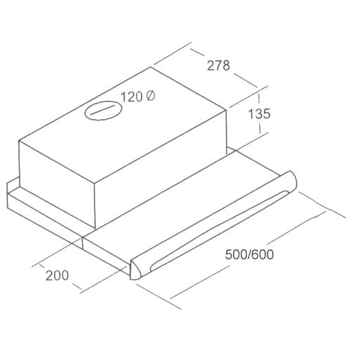 Встраиваемая вытяжка Exiteq Retracta Sensor 602 WH