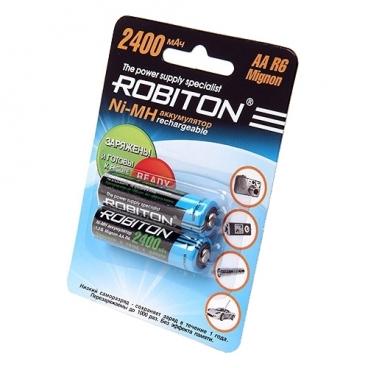 Аккумулятор Ni-Mh 2400 мА·ч ROBITON AA R6 Mignon 2400