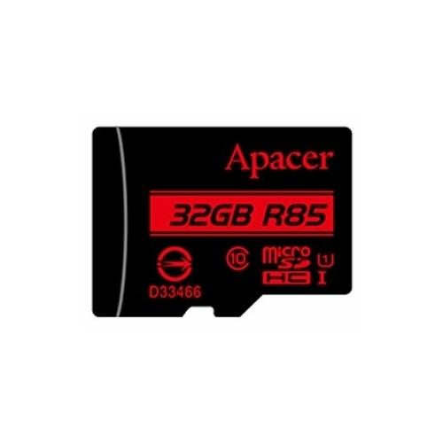 Карта памяти Apacer microSDHC Card Class 10 UHS-I U1 (R85 MB/s) 32GB + SD adapter