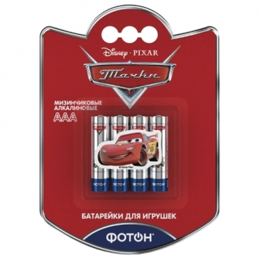 "Батарейка ФОТОН AAA/LR03 Disney ""Тачки"""