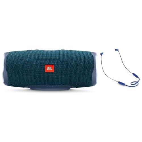 Портативная акустика JBL Charge 4 + наушники T110BT
