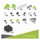Электромеханический конструктор ENGINO STEM Heroes STH61 Набор из 5 моделей с мотором. Земля Юрского периода