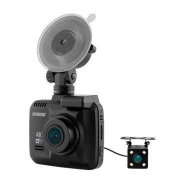 Видеорегистратор Digma FreeDrive 600-GW DUAL 4K, 2 камеры, GPS