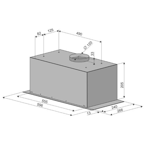 Встраиваемая вытяжка Konigin FlatBox 60 Inox