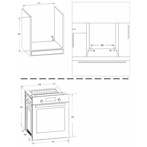 Электрический духовой шкаф Zigmund & Shtain EN 242.622 W