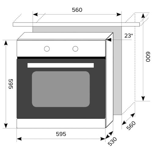 Электрический духовой шкаф LEX EDM 040 WH