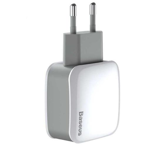 Сетевая зарядка Baseus Letour Dual U Charger+3-in with 1 cable