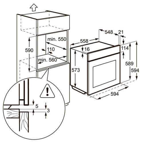 Газовый духовой шкаф Zanussi ZOG 521317 X