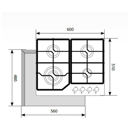 Варочная панель LEX GVG 640-1 WH