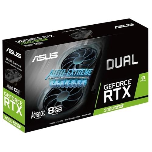 Видеокарта ASUS DUAL GeForce RTX 2060 SUPER 1470MHz PCI-E 3.0 8192MB 14000MHz 256 bit DVI 2xHDMI DisplayPort HDCP EVO V2 Advanced