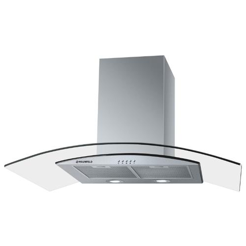 Каминная вытяжка MAUNFELD Ancona PlusA 90 нержавеющая сталь\прозрачное стекло