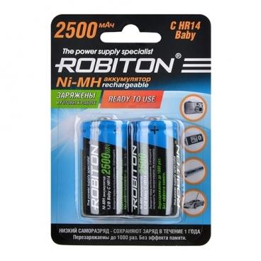 Аккумулятор Ni-Mh 2500 мА·ч ROBITON C HR14 Baby 2500