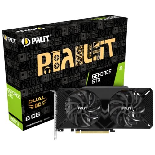Видеокарта Palit GeForce GTX 1660 Ti 1500MHz PCI-E 3.0 6144MB 12000MHz 192 bit DVI HDMI HDCP Dual OC