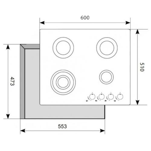 Варочная панель AKPO PGA 604 RGC-T BL