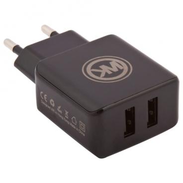 Сетевая зарядка WK Blanc 2U + кабель micro USB (WP-U11)