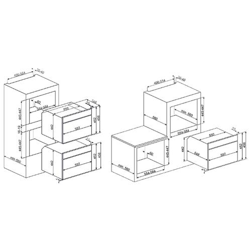 Электрический духовой шкаф smeg SFP4390XPZ