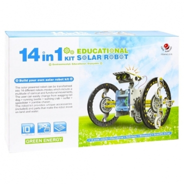 Электромеханический конструктор CuteSunlight Toys Factory Solar robot kit 14 в 1