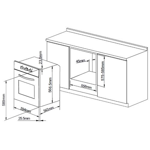 Электрический духовой шкаф PYRAMIDA F 66 EP IX