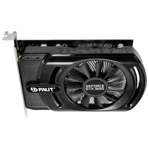 Видеокарта Palit GeForce GTX 1650 1485MHz PCI-E 3.0 4096MB 8000MHz 128 bit 2xDisplayPort HDMI HDCP StormX+ OC