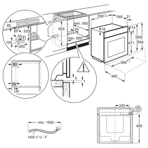 Электрический духовой шкаф Electrolux OKD5C51X