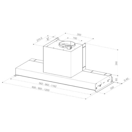 Встраиваемая вытяжка Faber IN-NOVA SMART X A120