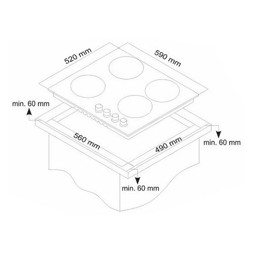Варочная панель Simfer H60Q40O417