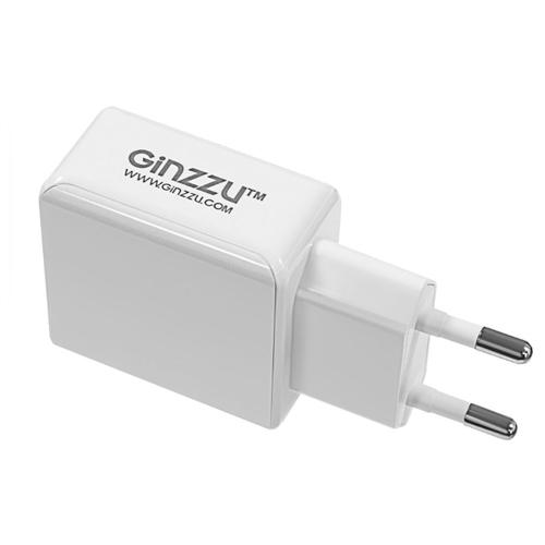 Сетевая зарядка Ginzzu GA-3313UW