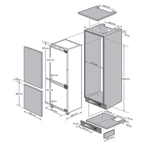 Встраиваемый холодильник LG GR-N266 LLR