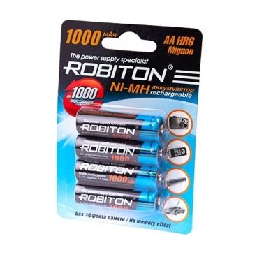 Аккумулятор Ni-Mh 1000 мА·ч ROBITON AA HR6 Mignon 1000