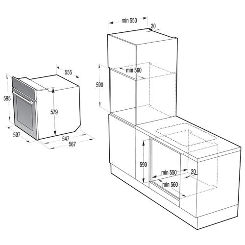 Электрический духовой шкаф Gorenje BO 658 KRB