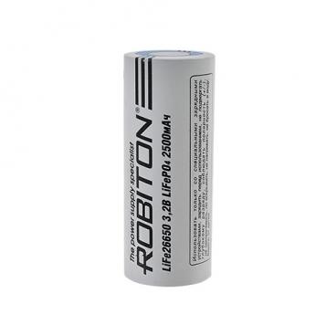 Аккумулятор LiFePO4 2500 мА·ч ROBITON LiFePO4 26650