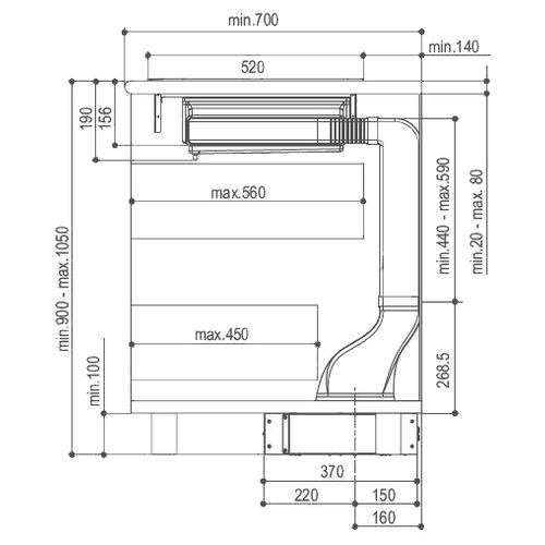 Встраиваемая вытяжка Faber HOO-B BK/A A52
