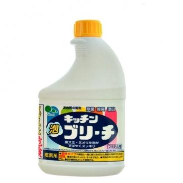 Универсальное кухонное моющее и отбеливающее пенное средство с возможностью распыления (запасная бутылка) Mitsuei