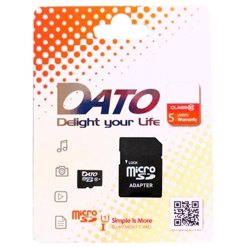 Карта памяти DATO microSDHC Class 10 UHS-I U1 16GB + SD adapter