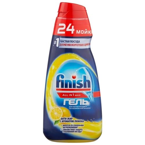 Finish All in 1 гель антижир (лимон) для посудомоечной машины