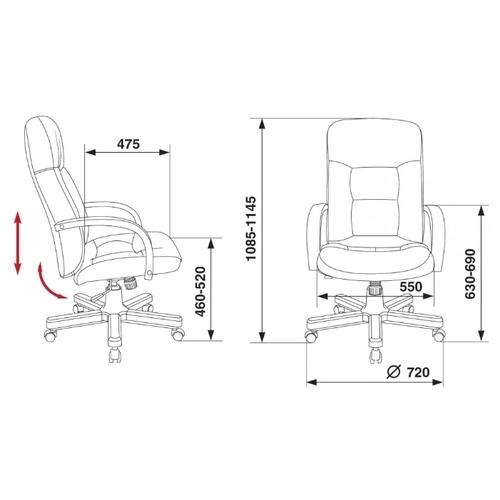 Компьютерное кресло Бюрократ T-9908/WALNUT для руководителя