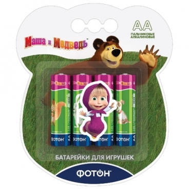 """Батарейка ФОТОН AA/LR6 """"Маша и медведь"""""""