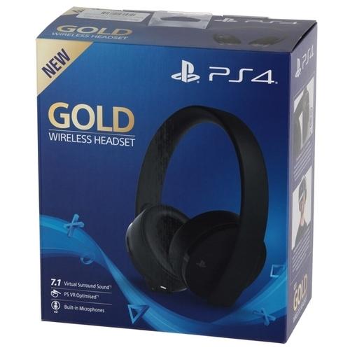 Sony Гарнитура беспроводная черная Gold для PS4 (CUHYA-0080)