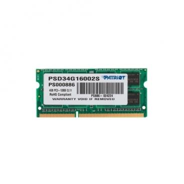 Оперативная память 4 ГБ 1 шт. Patriot Memory PSD34G16002S