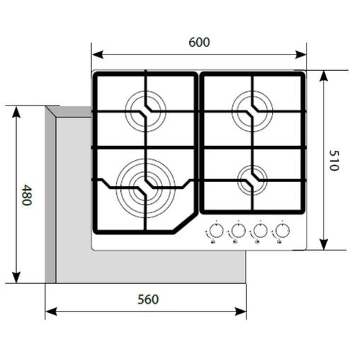 Варочная панель LEX GVG 640-1 IV