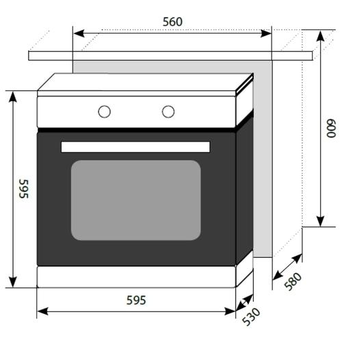 Электрический духовой шкаф LEX EDM 041 BL