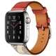 Часы Apple Watch Hermès Series 5 GPS + Cellular 40mm Stainless Steel Case with Single Tour